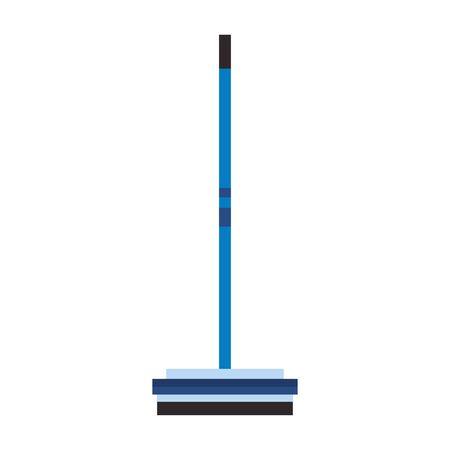 Curling broom extreme sport equipment vector illustration graphic design Archivio Fotografico - 129279423
