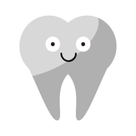 Tooth smiling cute cartoon vector illustration graphic design Banque d'images - 129284304