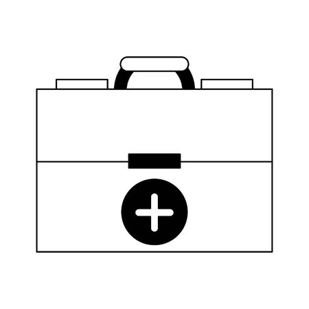 Medical first aids suitcase symbol vector illustration graphic design Banque d'images - 129287210