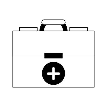 Medical first aids suitcase symbol vector illustration graphic design Banque d'images - 129287238