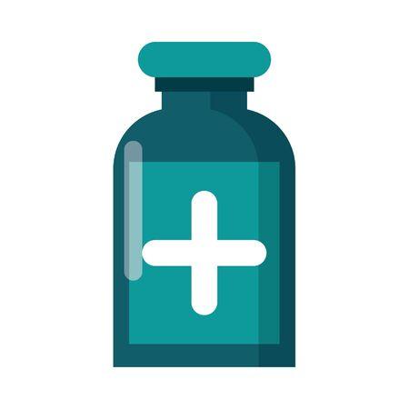Medicine bottle cartoon isolated vector illustration graphic design Banque d'images - 129287417