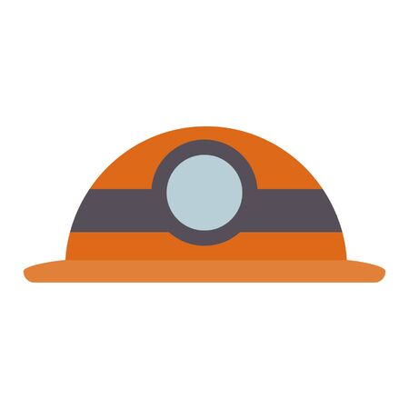 Worker helmet with light vector illustration graphic design