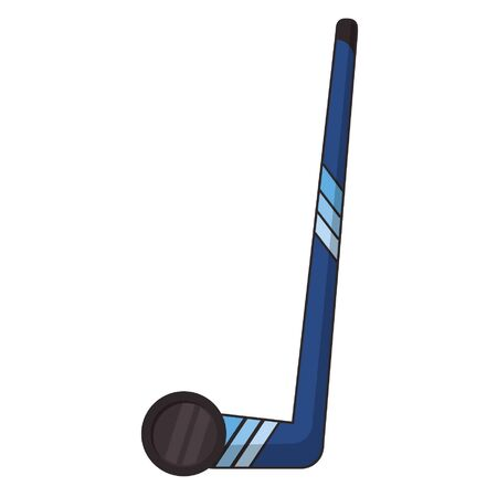 Hockey stick and puck extreme sport vector illustration graphic design Archivio Fotografico - 129301101
