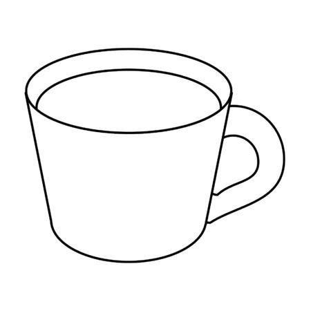 Coffee mug drink cartoon vector illustration graphic design