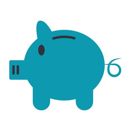 Piggy money savings symbol isolated vector illustration graphic design