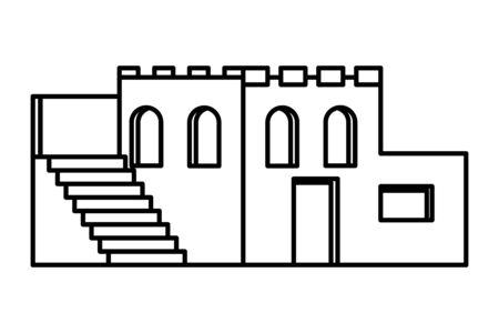 oriental antique aged desert building isdolated cartoon vector illustration graphic design Banque d'images - 129309754