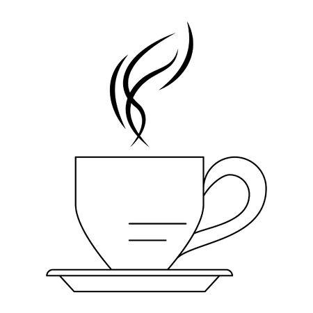 Hot coffee cup cartoon vector illustration graphic design