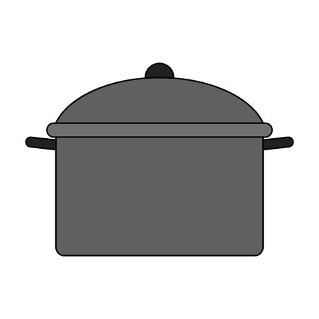 cooking pot culinary accessory cartoon vector illustration graphic design
