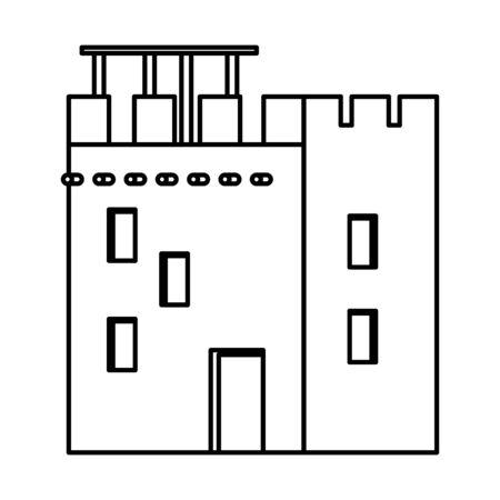 oriental antique aged desert building isdolated cartoon vector illustration graphic design Banque d'images - 129318740