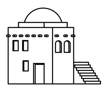 oriental antique aged desert building isdolated cartoon vector illustration graphic design Banque d'images - 129323254