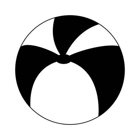 Beach ball summer cartoon isolated symbol vector illustration graphic design
