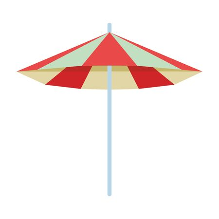 beach striped umbrella open cartoon vector illustration graphic design