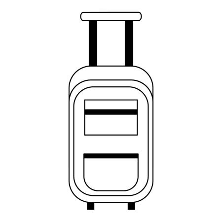 Travel luggage with wheels cartoon isolated vector illustration graphic design