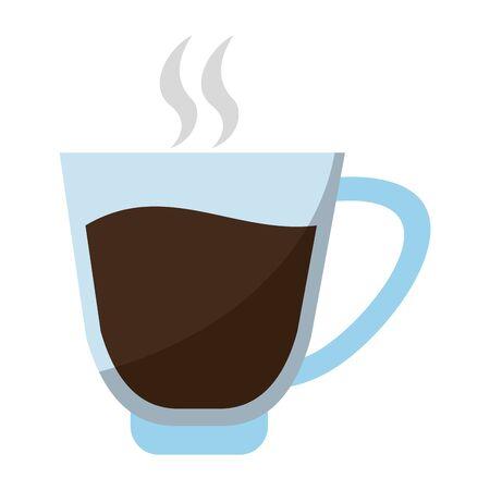 coffee black hot glass cartoon vector illustration graphic design Фото со стока - 129328887