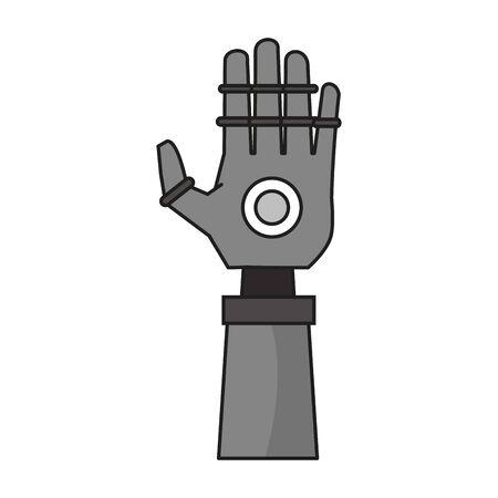 Bionic robot hand technology vector illustration graphic design