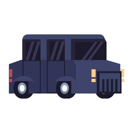 Retro videogame car vehicle pixelated cartoon vector illustration graphic design Foto de archivo - 129329073