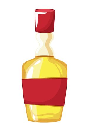 mexican food and tradicional culture with tequila bottle icon cartoon vector illustration graphic design  イラスト・ベクター素材