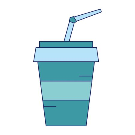 Soda drink cup with straw isolated vector illustration graphic design Ilustrace