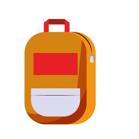 Backpack school supply isolated symbol vector illustration graphic design 向量圖像