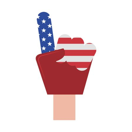 usa american independence 4th july patriotic happy celebration united states promotion isolated cartoon vector illustration graphic design