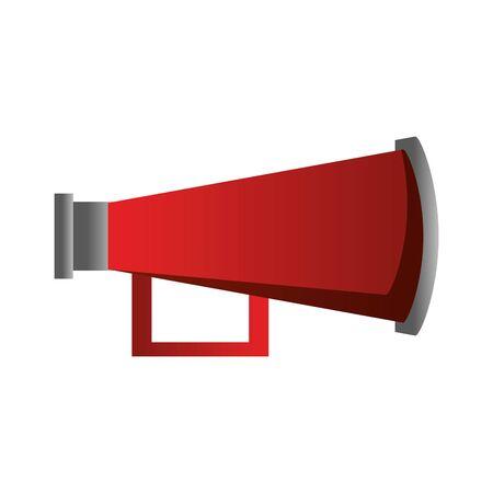 megaphone speaker attention red loudspeaker cartoon vector illustration graphic design Ilustrace