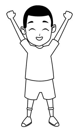 child having fun and playing isolated vector illustration graphic design