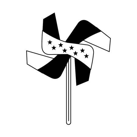 usa american independence 4th july patriotic happy celebration united states pinwheel isolated cartoon vector illustration graphic design  イラスト・ベクター素材