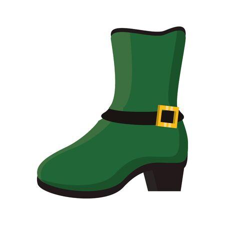 saint patricks day irish tradition green leprechaun boot isolated cartoon vector illustration graphic design