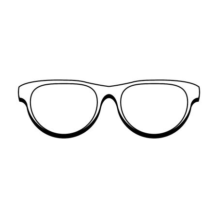 Fashion sunglasses accesory isolated cartoon vector illustration graphic design Illusztráció