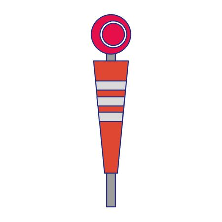 american football sport game sideline cartoon vector illustration graphic design Ilustracja