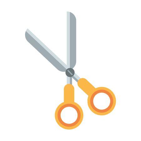 Scissors school utensil isolated symbol vector illustration graphic design