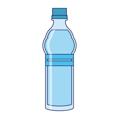 water bottle on white background and isolated symbols vector illustration graphic design