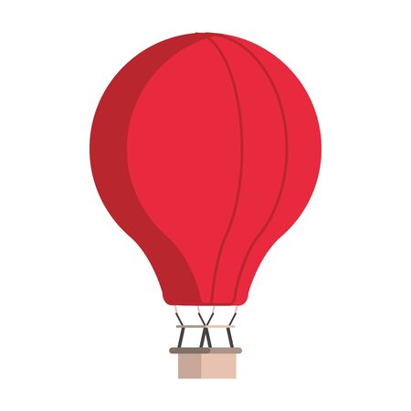 Hot air balloon isolated symbol