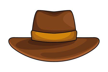 cowboy hat icon cartoon isolated vector illustration graphic design