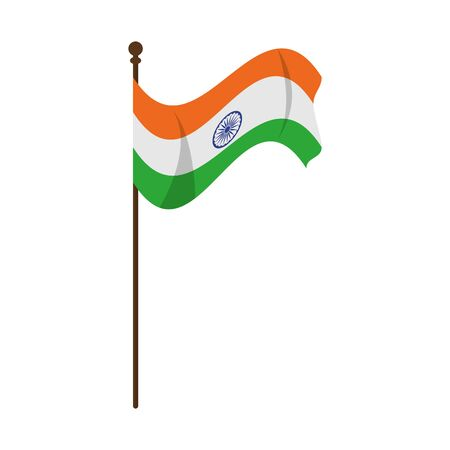flag of india icon cartoon vector illustration graphic design Illustration