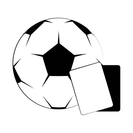 Soccer football sport game ball and referee cards vector illustration graphic design 向量圖像