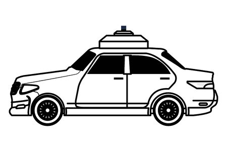 taxi car public transport service cartoon vector illustration graphic design