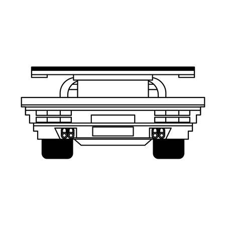 Videogame pixelated racing car frontview symbol vector illustration graphic design Stok Fotoğraf - 129367811