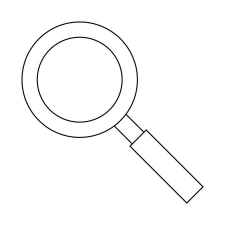 magnifying glass zoom lamp cartoon vector illustration graphic design Stock Illustratie
