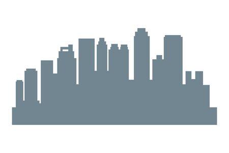 Cityscape urban city edifices,skyscrapers and business buildings vector illustration graphic design. Иллюстрация