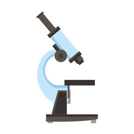 medical heatlh medicine care microscope isolated cartoon vector illustration graphic design