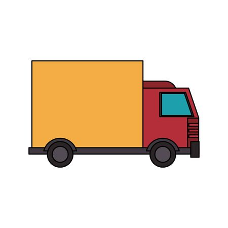 truck transport merchandise vehicle cartoon vector illustration graphic design 일러스트