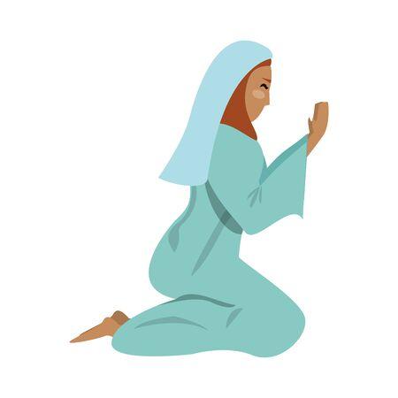 merry christmas nativity christian manger catholic religion december biblical mary scene cartoon vector illustration graphic design 일러스트