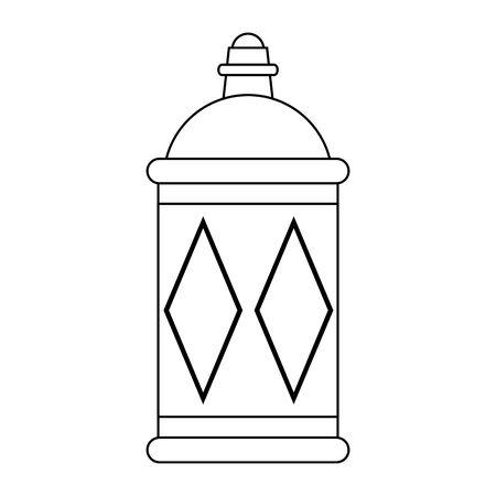 lantern decoration festival golden lamp, arabic and oriental culture cartoon vector illustration graphic design 일러스트