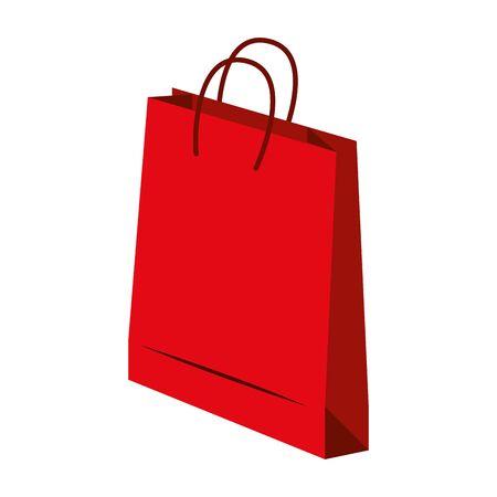 zakupy sklep sprzedaży detalicznej, torba na zakupy na białym tle kreskówka wektor ilustracja projekt graficzny