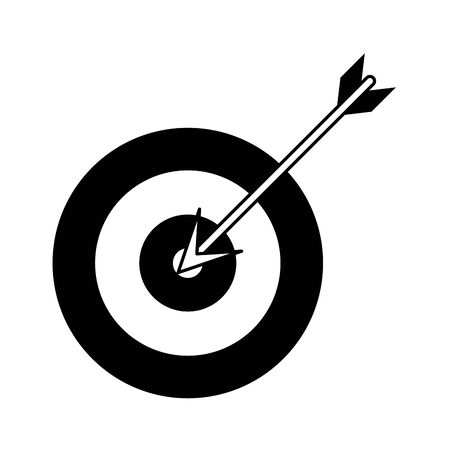 target shooting cartoon vector illustration graphic design in black and white Vettoriali