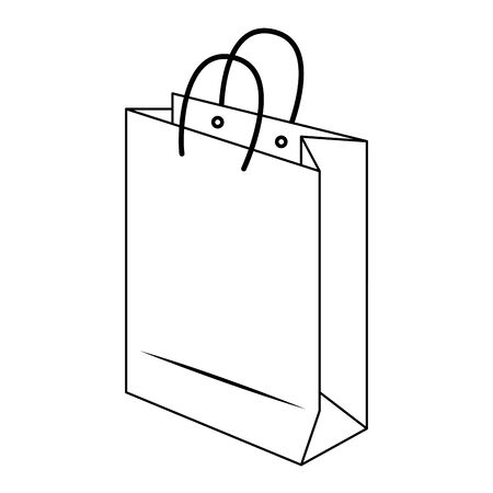 shopping retail sale store, shopping bag isolated cartoon vector illustration graphic design