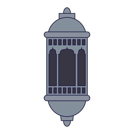 lantern decoration festival silver lamp, arabic and oriental culture cartoon vector illustration graphic design