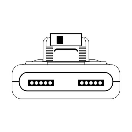 Retro videogame console with cassette vector illustration graphic design Stok Fotoğraf - 129375307