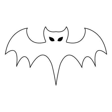 halloween october scary celebration bat isolated cartoon vector illustration graphic design Ilustrace